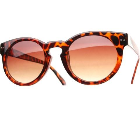 Round Key Hole Sunglasses - Tortoise/Brown
