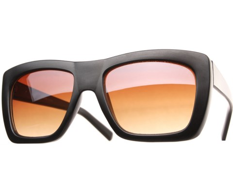 Color Block Sunglasses - Black/Brown