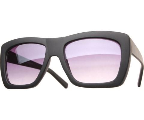 Color Block Sunglasses - Black/Black