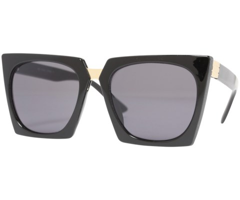 Revo Plastic Cateye Sunglasses - Black/Black