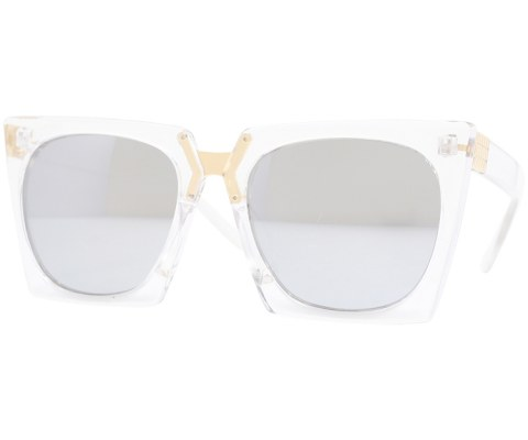 Revo Plastic Cateye Sunglasses - Clear/Mirror