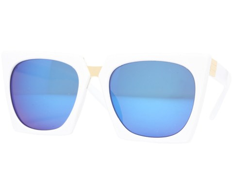 Revo Plastic Cateye Sunglasses - White/Blue