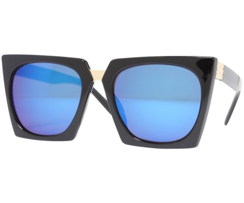 Revo Plastic Cateye Sunglasses - Black/Blue