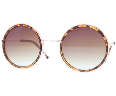 Classic Round Sunglasses - Tortoise/Brown