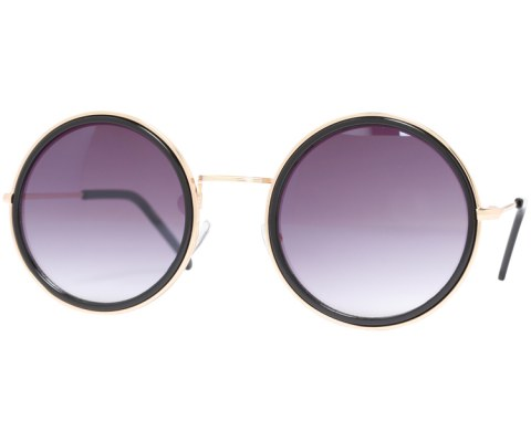 Classic Round Sunglasses - Black/Black