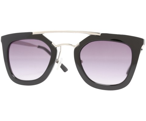 Modern 90s Sunglasses - Black/Black