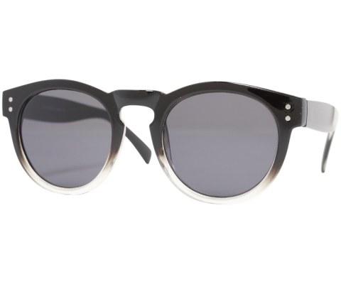 Round Plastic Keyhole Sunglasses - BlkClr/Black