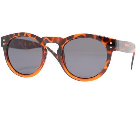 Round Plastic Keyhole Sunglasses - BlkTort/Black