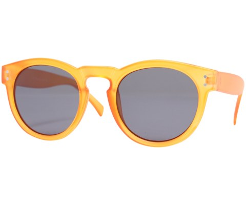 Round Plastic Keyhole Sunglasses - Orange/Black