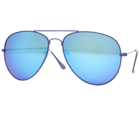 Aviator Sunglasses in Revo - Blue/Revo
