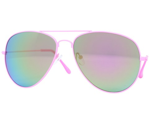 Aviator Sunglasses in Revo - Pink/Revo