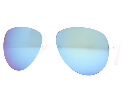 Aviator Sunglasses in Revo - White/Revo