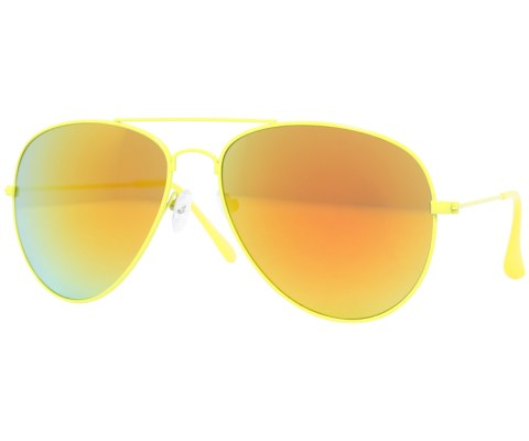 Aviator Sunglasses in Revo - Neon/Revo