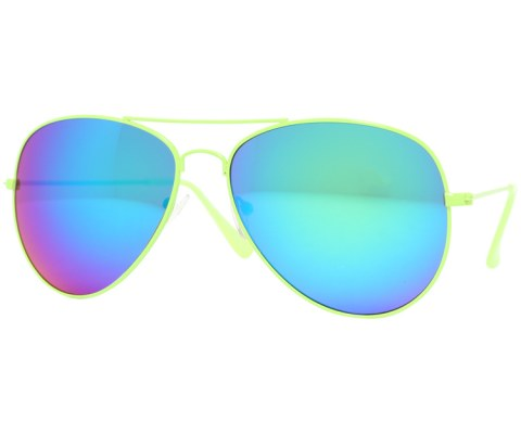Aviator Sunglasses in Revo - Green/Revo