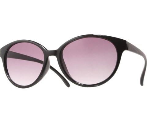 Classic Round Sunglasses - Black/Smoke