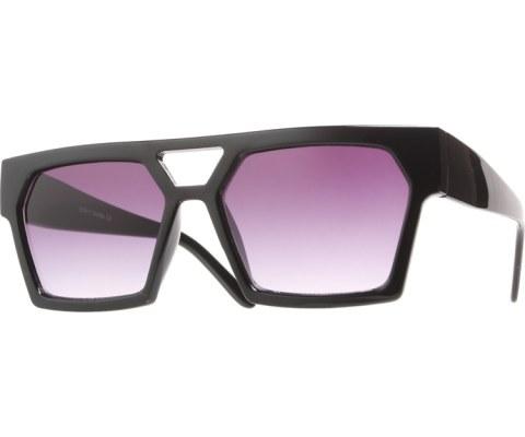 Squared Chunky Sunglasses - Black/Black
