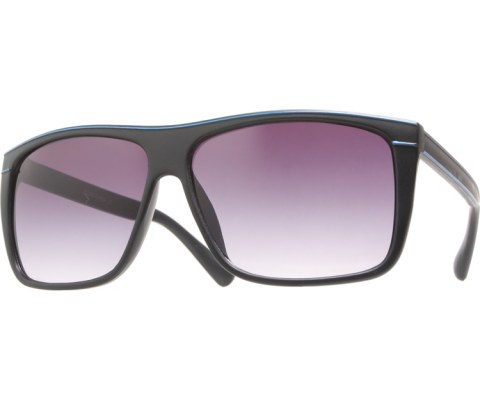 Pinstriped Sunglasses - BlkBlu/Black