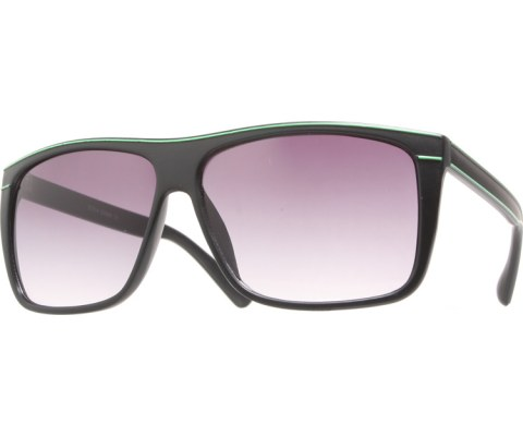 Pinstriped Sunglasses - BlkGrn/Black