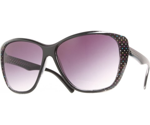 Side Polka Dot Sunglasses - Black/Black