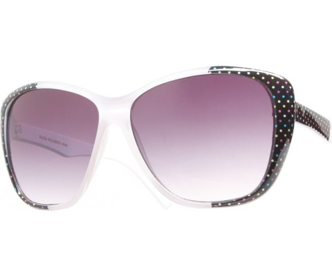 Side Polka Dot Sunglasses - White/Black