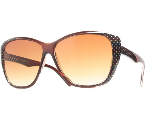 Side Polka Dot Sunglasses - Brown/Brown