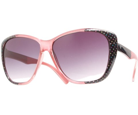 Side Polka Dot Sunglasses - Pink/Black