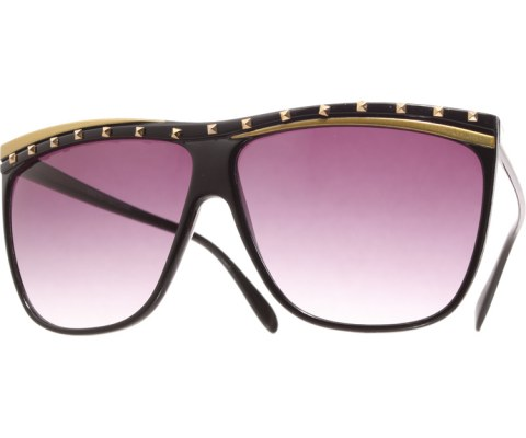 Juno Studded Sunglasses - Black/Smoke
