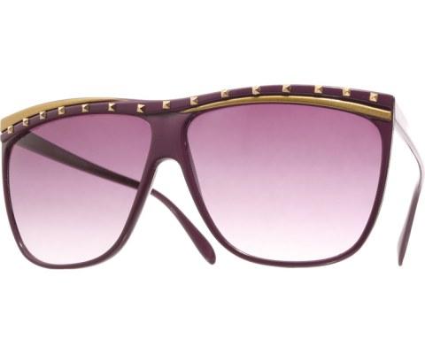 Juno Studded Sunglasses - Purple/Smoke