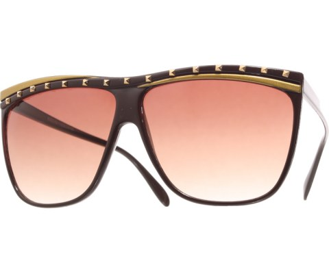 Juno Studded Sunglasses - Brown/Brown