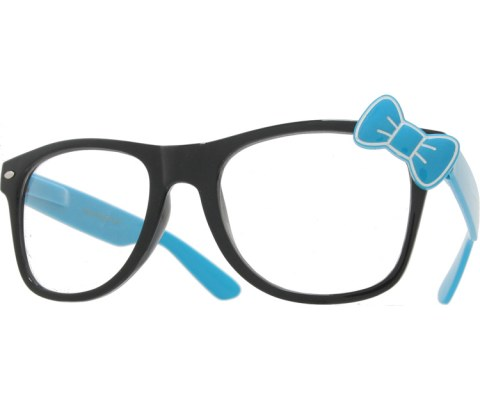 Hello Bow Colored Clear Glasses