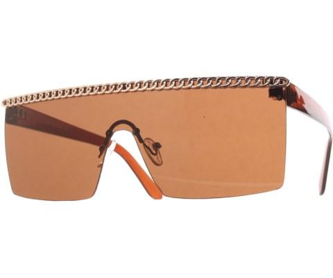 Gaga Chain Sunglasses - Brown/Brown