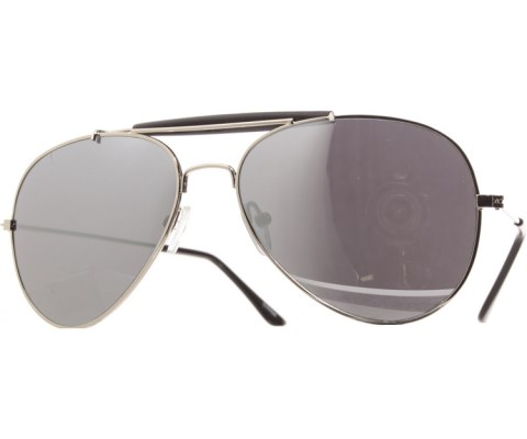 Pilot Mirror Aviator Sunglasses - Silver/Mirror