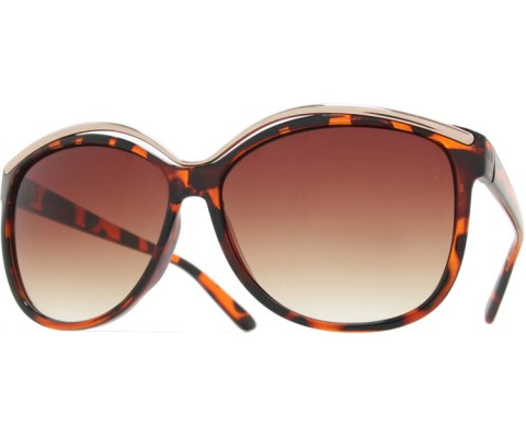 Metal High Brow Sunglasses - Tortoise/Brown