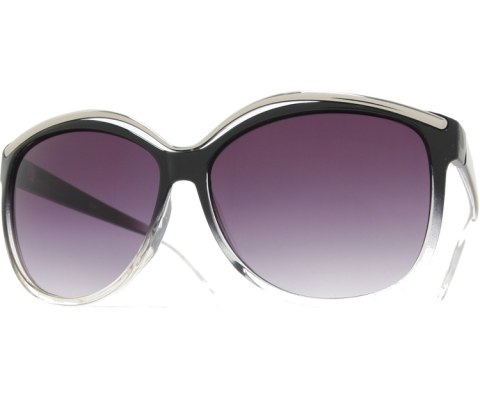 Metal High Brow Sunglasses - BlkClr/Smoke