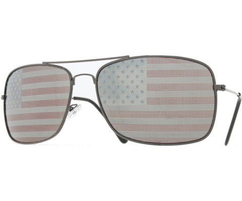 4th Of July Enforcer Sunglasses - Pewter/Flag