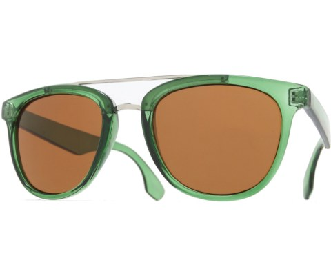 Metal Hybrid Sunglasses - Green/Brown