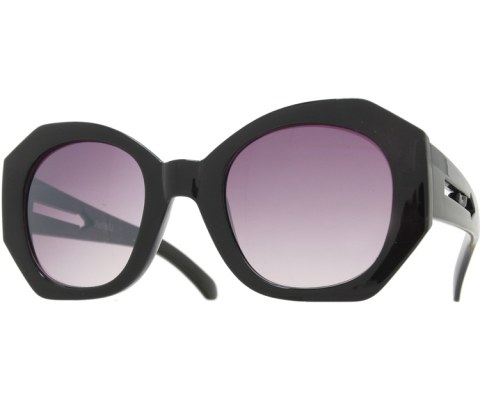 Oversized Arrow Sunglasses - Black/Smoke
