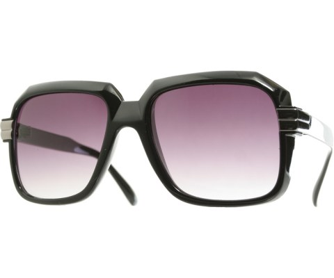80s DMC Sunglasses - Black/Smoke