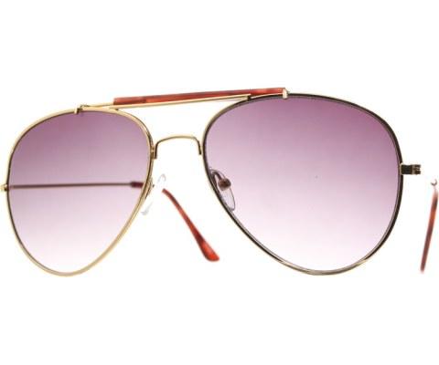 Black Gradient Aviator Sunglasses