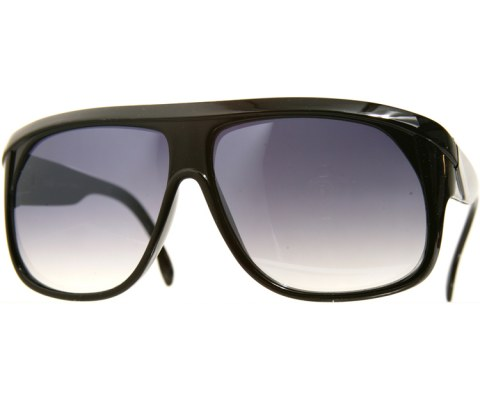 Overlapped Aviator Sunglasses - Black/Black