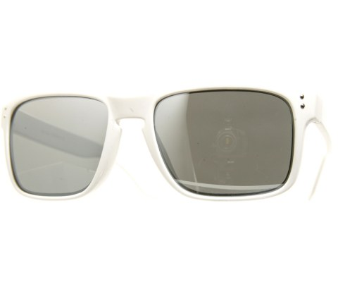 Side Metal Aviator Sunglasses - White/Mirror
