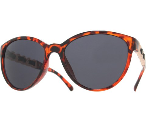 Side Gold Chain Sunglasses - Tortoise/Black