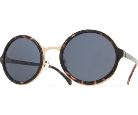 Round Layered Sunglasses - Tortoise/Black