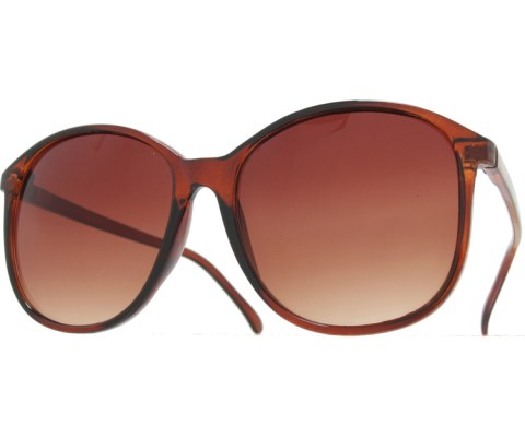 80s School Teacher Sunglasses - Brown/Brown