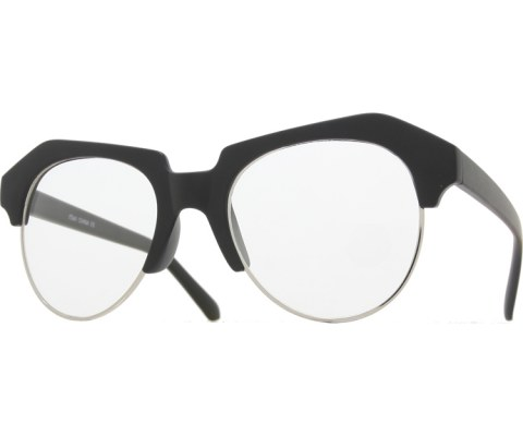Raised Brow Glasses - MatteBlk/Clear