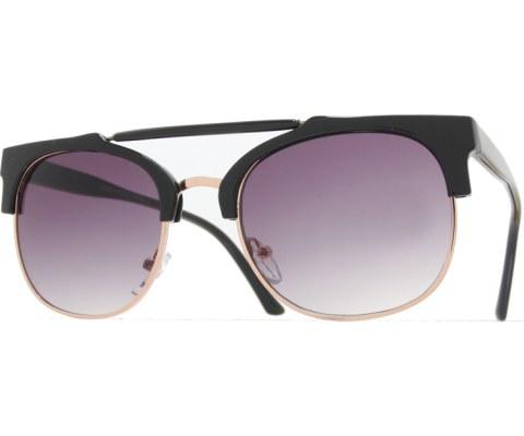 Top Bar Cool Sunglasses - Black/Smoke