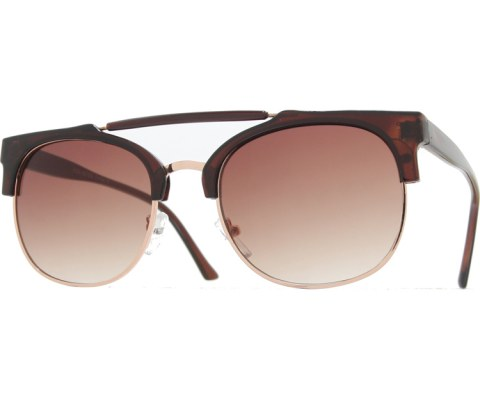 Top Bar Cool Sunglasses - Tortoise/Brown