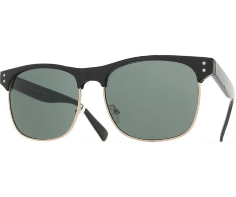 New School Cool Sunglasses - Black/Green