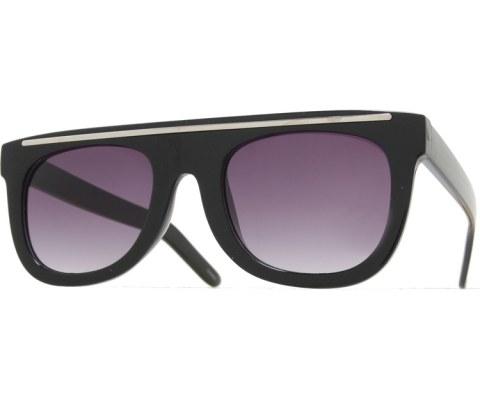 Top Bar Sunglasses - Black/Smoke