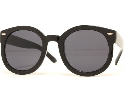 Super Round Cool Sunglasses - Black/Black